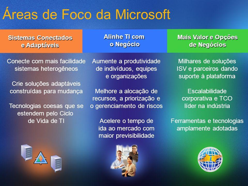 Áreas de Foco da Microsoft