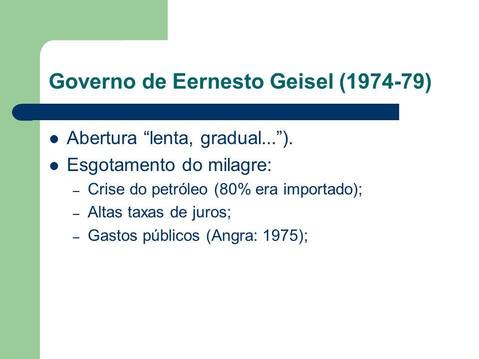 Governo de Eernesto Geisel (1974-79)