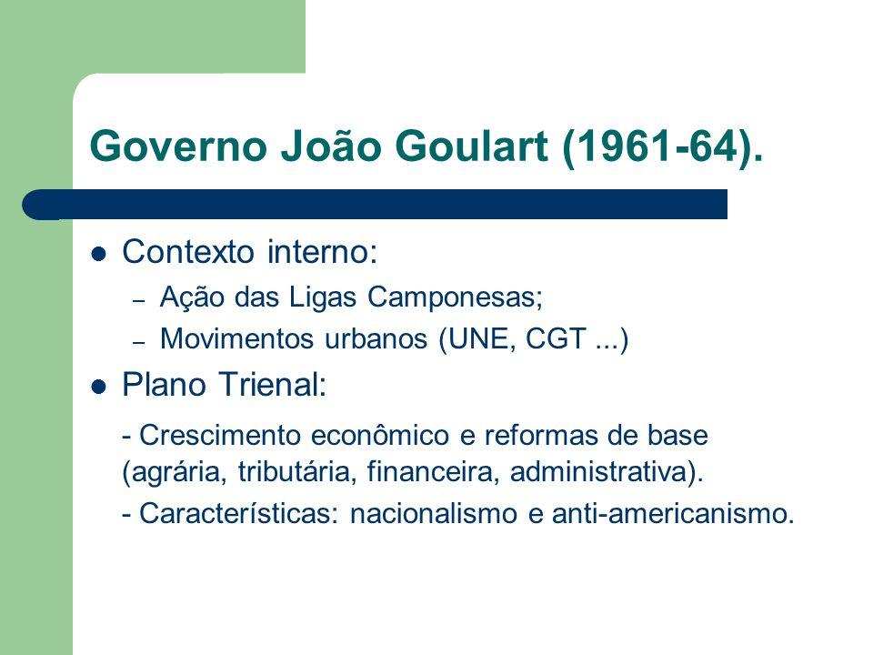 Governo João Goulart (1961-64).