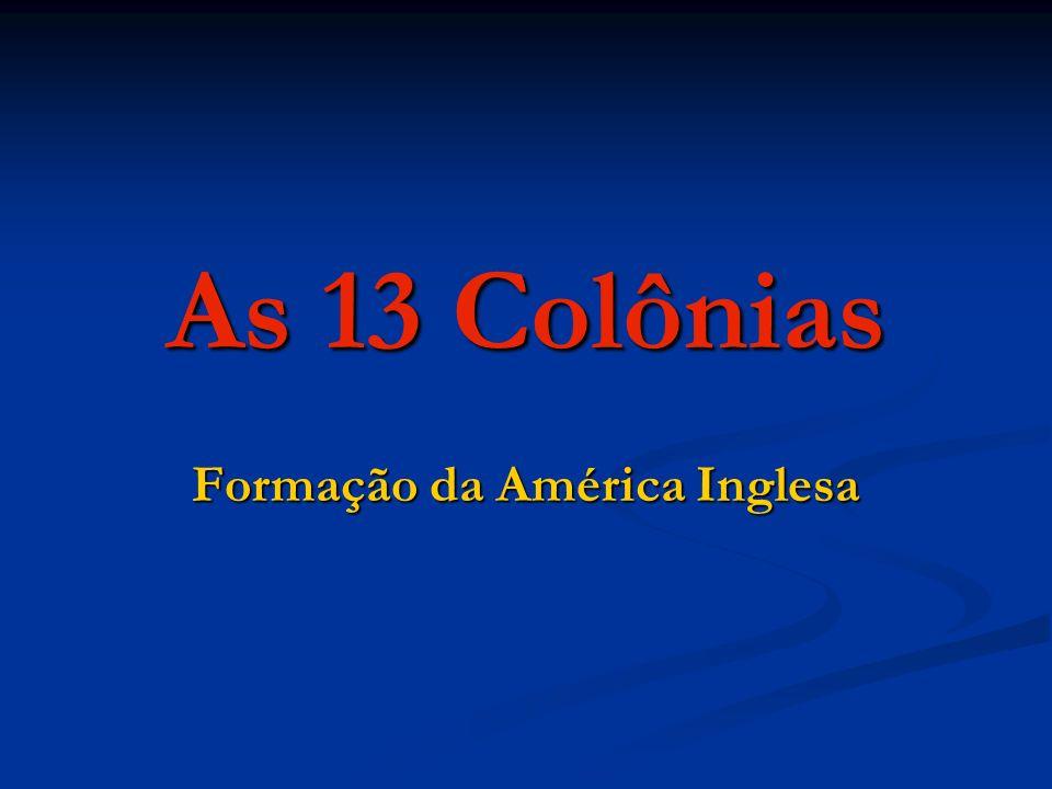 Formação da América Inglesa