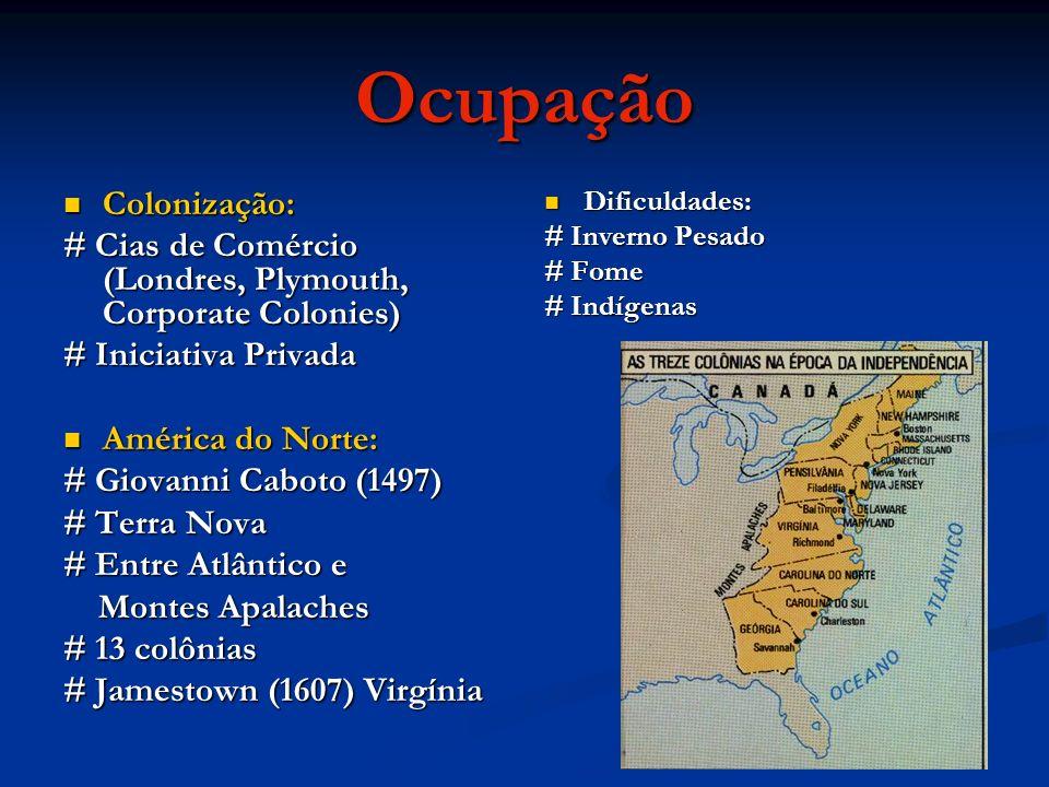 Ocupação Colonização: