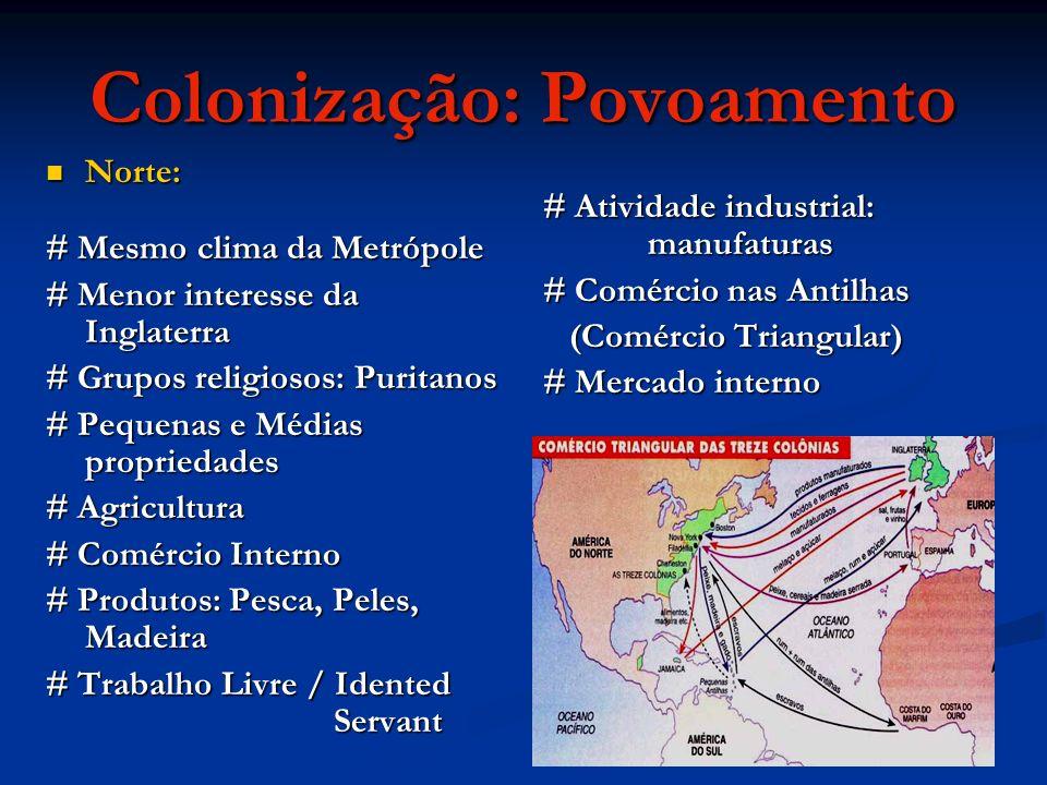 Colonização: Povoamento