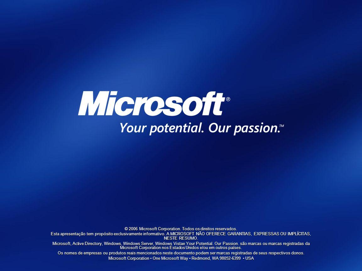 © 2006 Microsoft Corporation. Todos os direitos reservados.