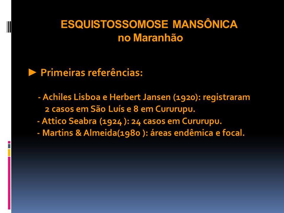 ESQUISTOSSOMOSE MANSÔNICA no Maranhão