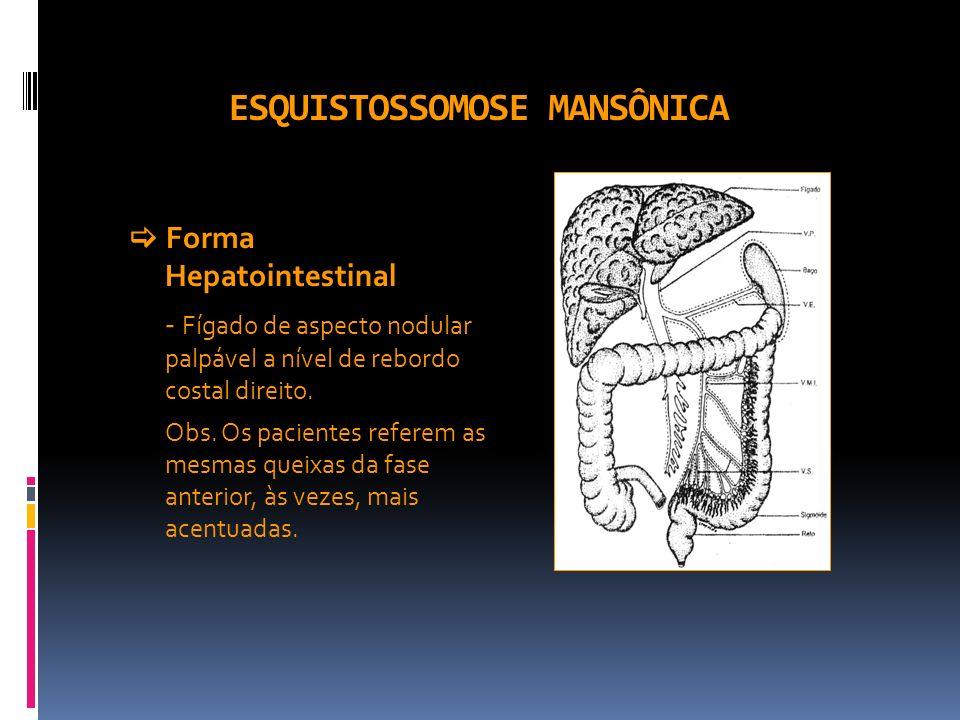 ESQUISTOSSOMOSE MANSÔNICA