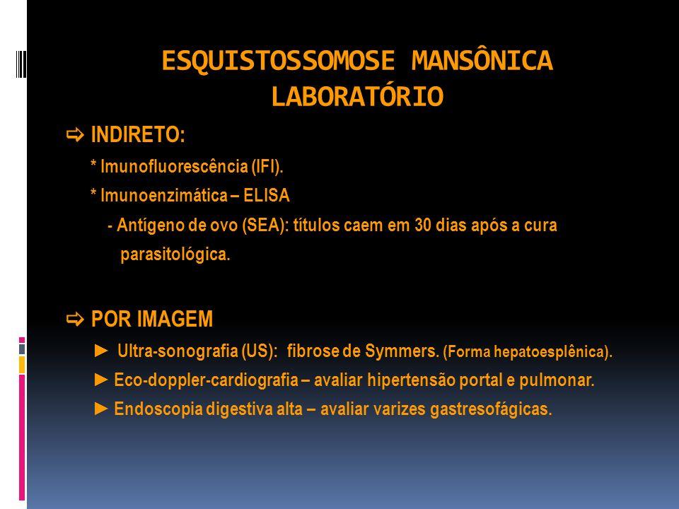 ESQUISTOSSOMOSE MANSÔNICA LABORATÓRIO