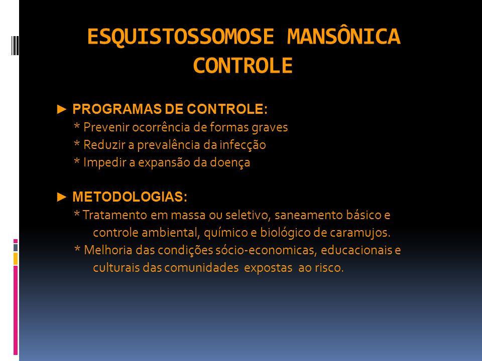 ESQUISTOSSOMOSE MANSÔNICA CONTROLE