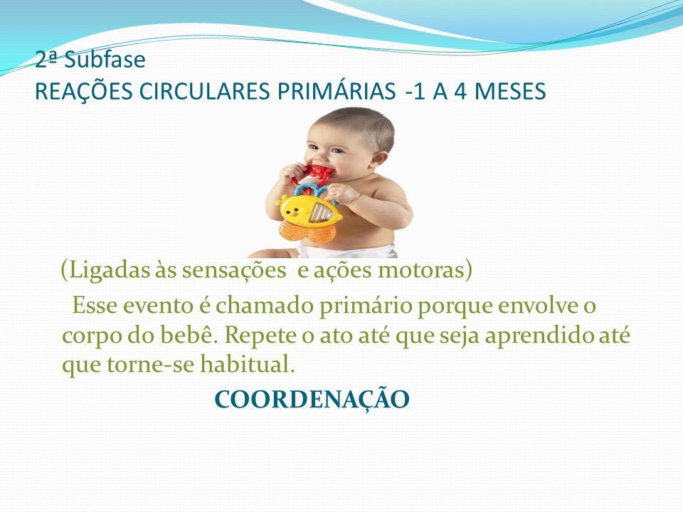 2ª Subfase REAÇÕES CIRCULARES PRIMÁRIAS -1 A 4 MESES