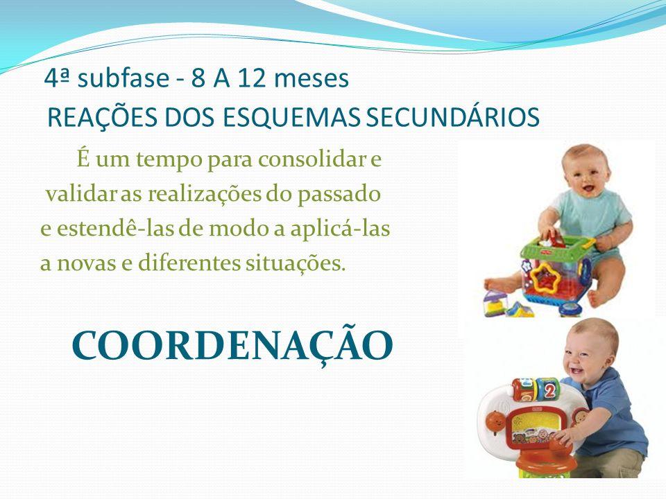 4ª subfase - 8 A 12 meses REAÇÕES DOS ESQUEMAS SECUNDÁRIOS