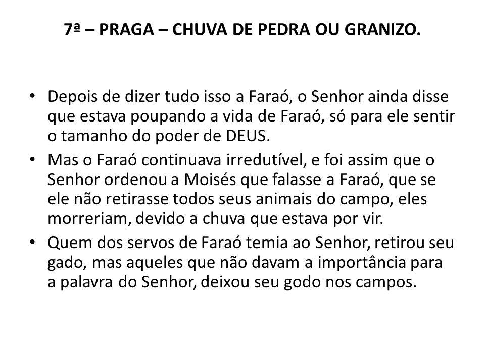 7ª – PRAGA – CHUVA DE PEDRA OU GRANIZO.