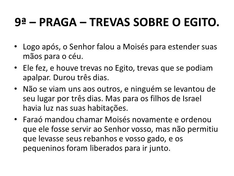 9ª – PRAGA – TREVAS SOBRE O EGITO.