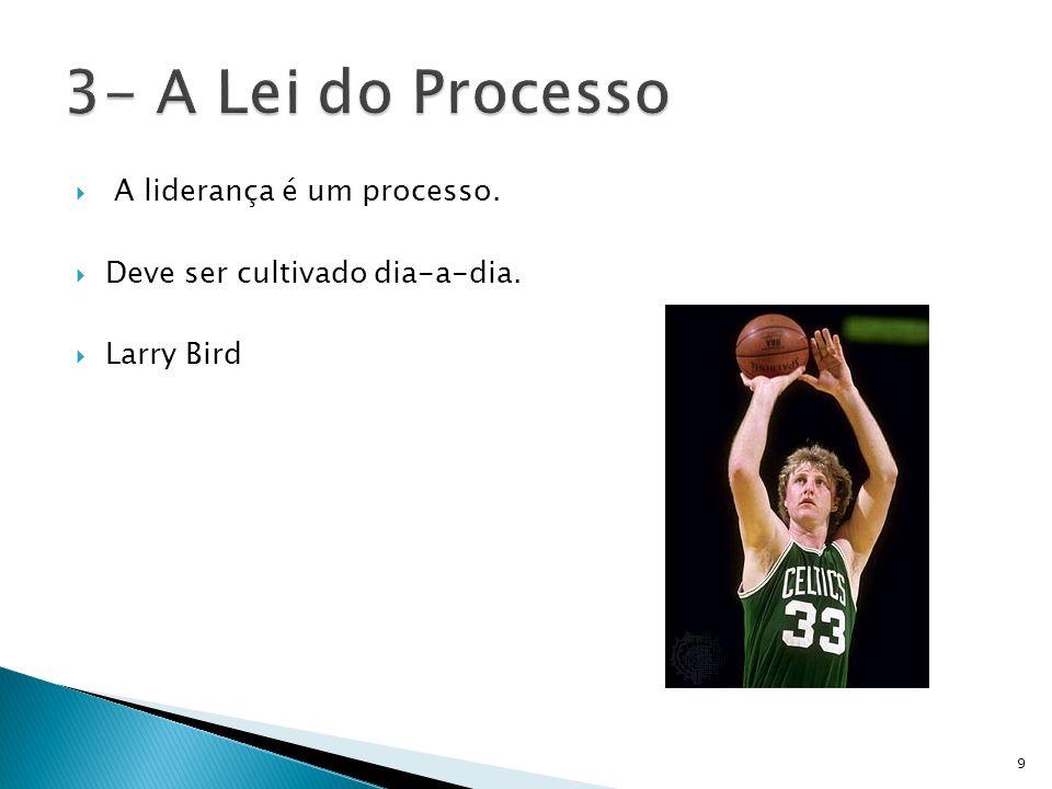 3- A Lei do Processo A liderança é um processo.