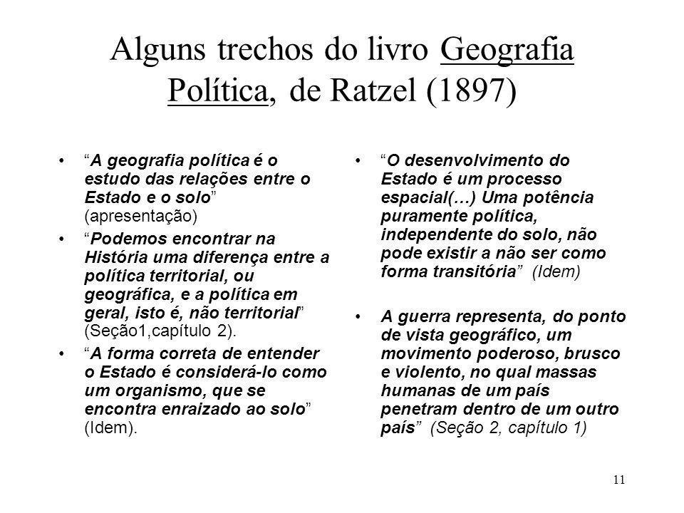 Alguns trechos do livro Geografia Política, de Ratzel (1897)