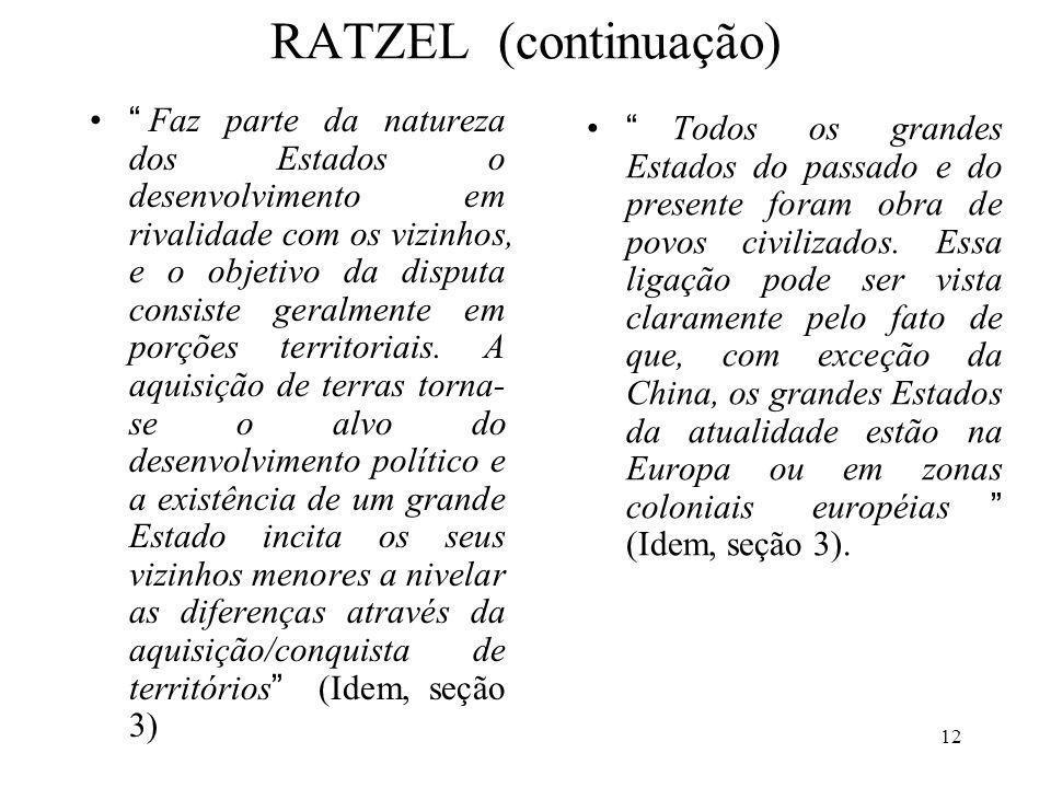 RATZEL (continuação)