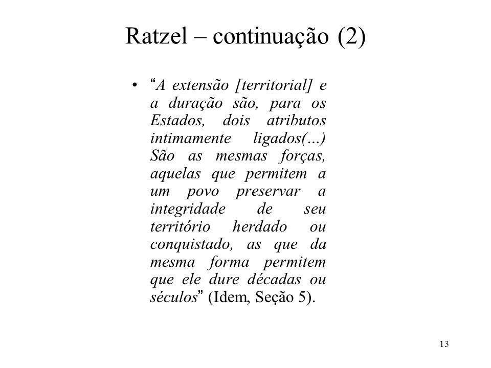 Ratzel – continuação (2)