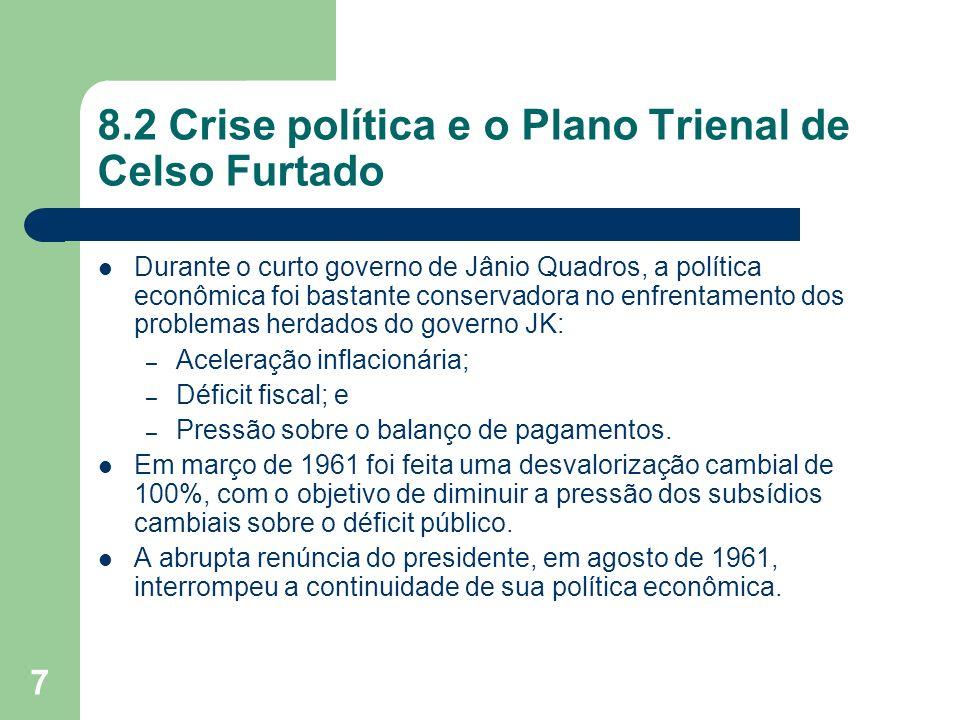 8.2 Crise política e o Plano Trienal de Celso Furtado