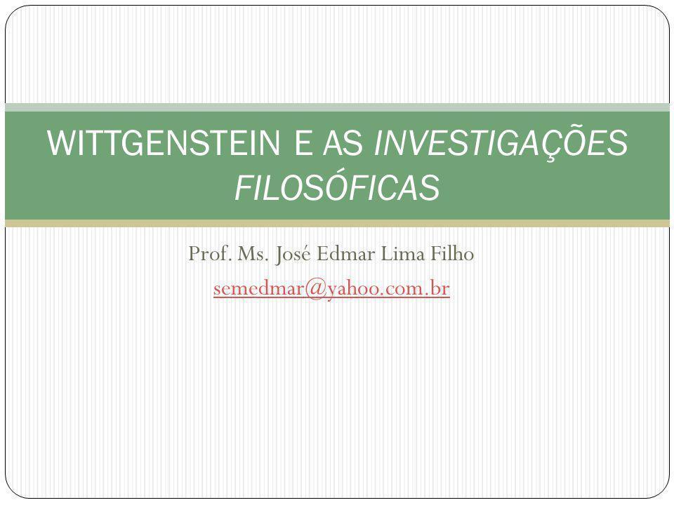 WITTGENSTEIN E AS INVESTIGAÇÕES FILOSÓFICAS