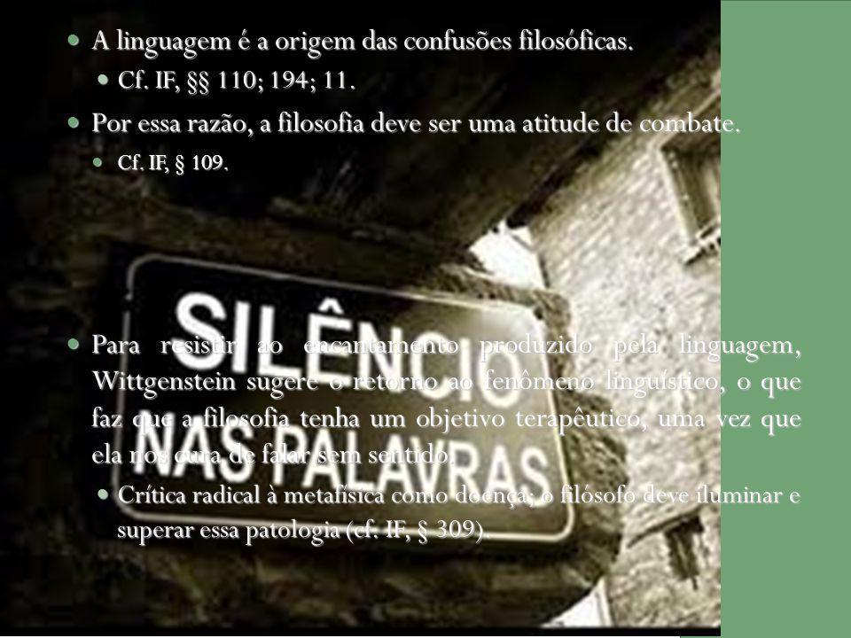A linguagem é a origem das confusões filosóficas.