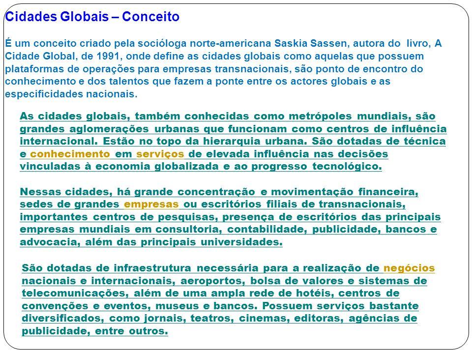 Cidades Globais – Conceito