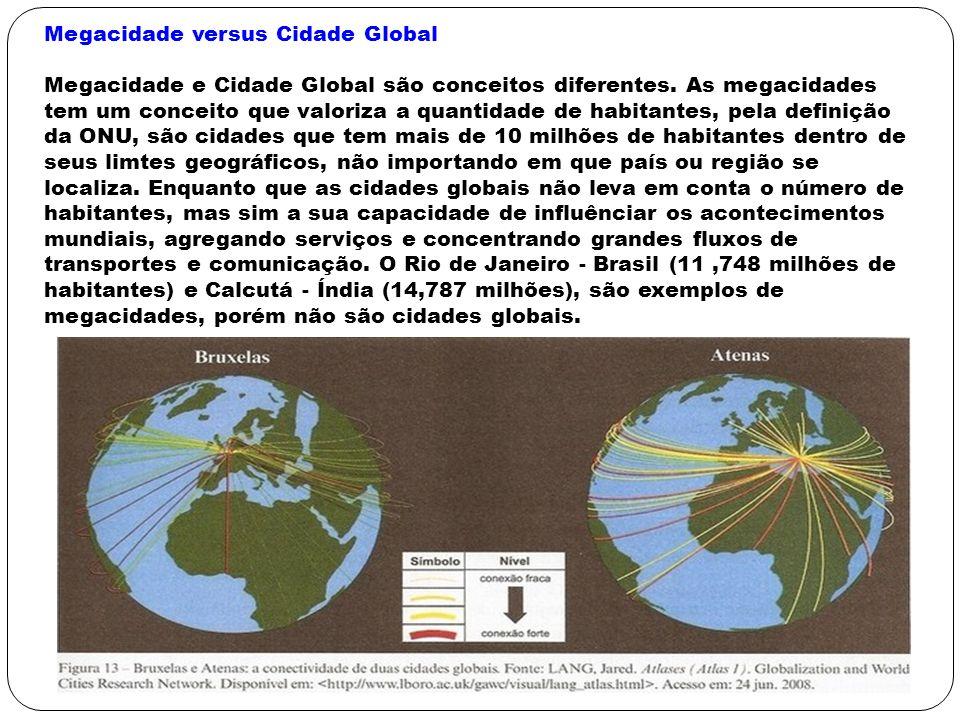 Megacidade versus Cidade Global