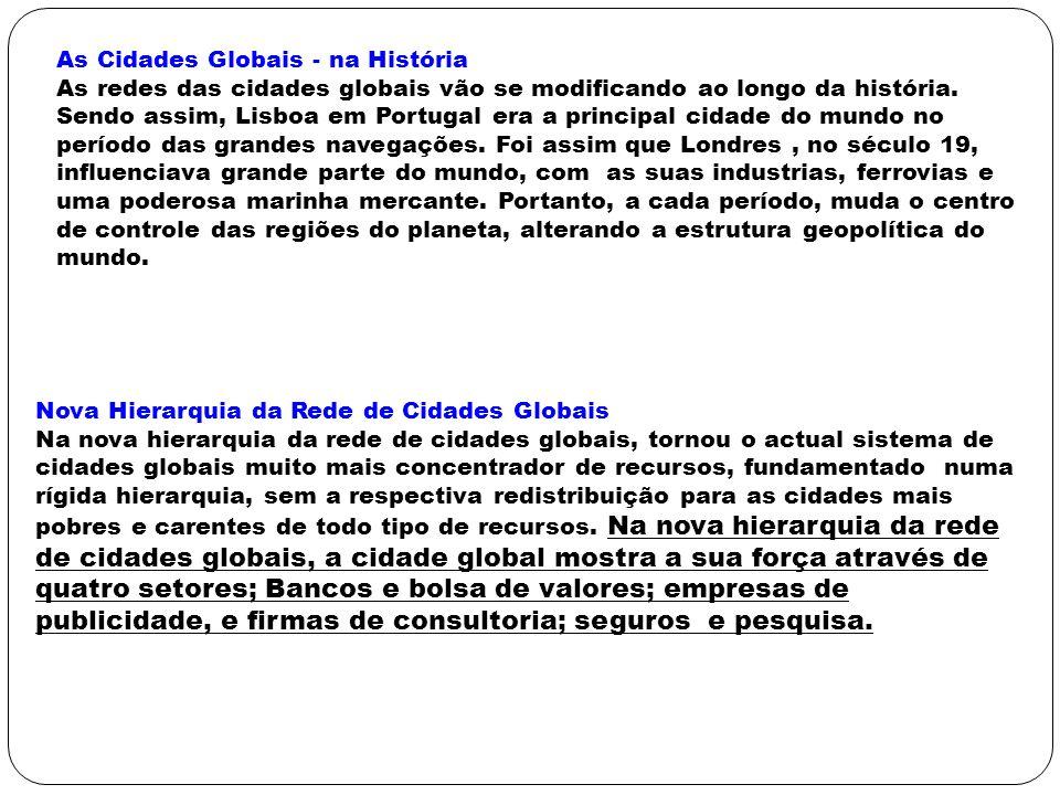 As Cidades Globais - na História