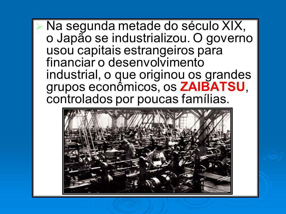 Na segunda metade do século XIX, o Japão se industrializou