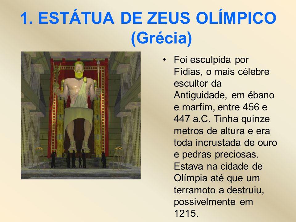 1. ESTÁTUA DE ZEUS OLÍMPICO (Grécia)