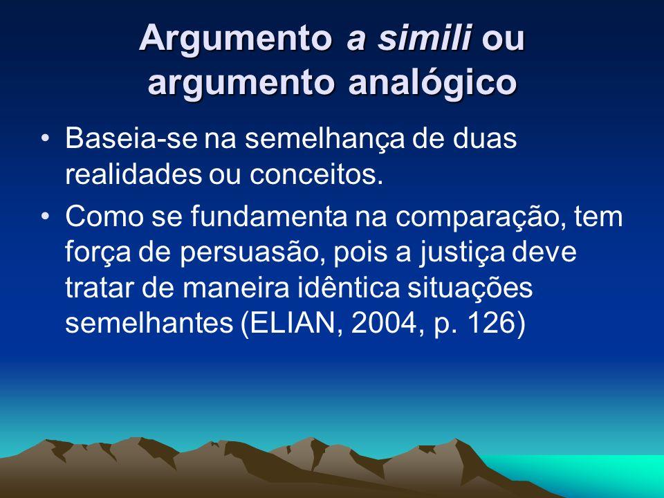 Argumento a simili ou argumento analógico