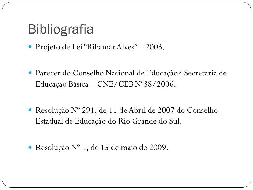 Bibliografia Projeto de Lei Ribamar Alves – 2003.