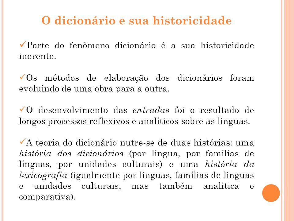 O dicionário e sua historicidade