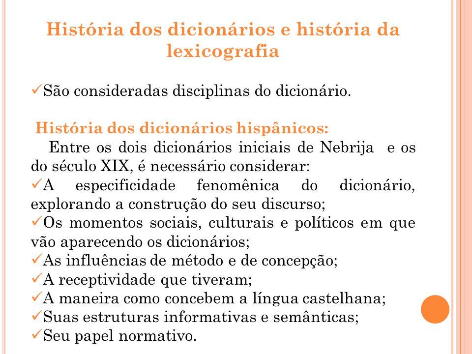 História dos dicionários e história da lexicografia