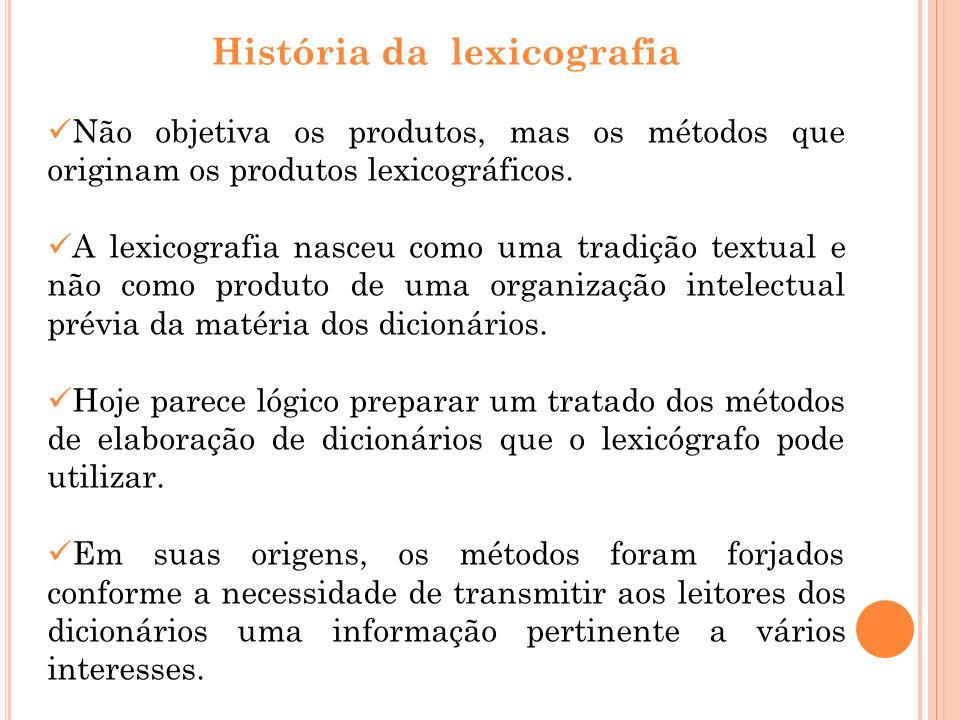 História da lexicografia