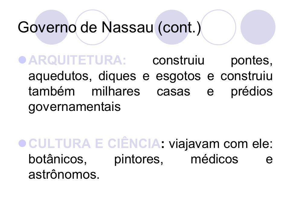 Governo de Nassau (cont.)