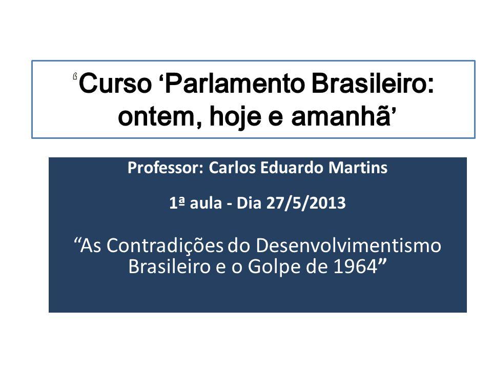 'Curso 'Parlamento Brasileiro: ontem, hoje e amanhã'