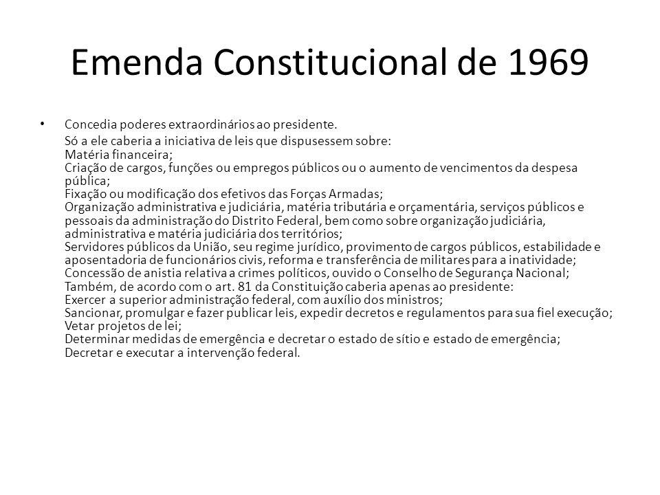 Emenda Constitucional de 1969