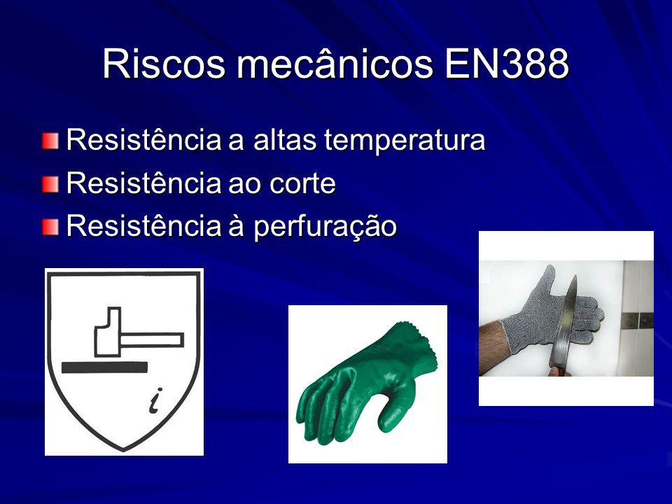 Riscos mecânicos EN388 Resistência a altas temperatura