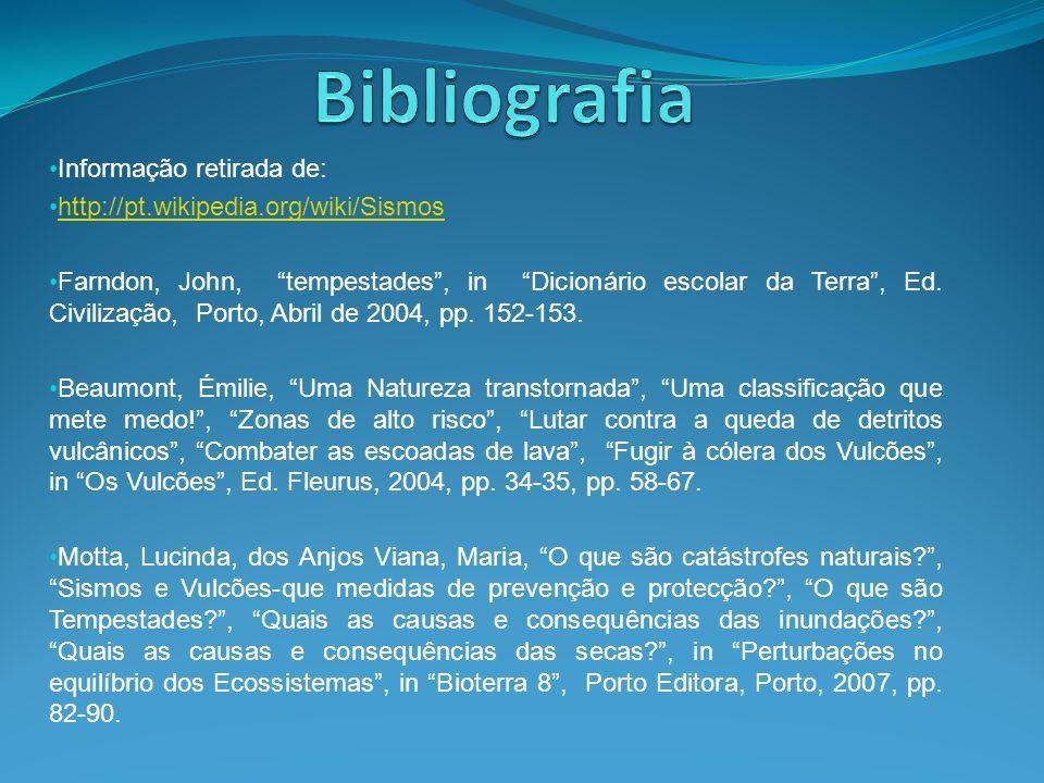 Bibliografia Informação retirada de:
