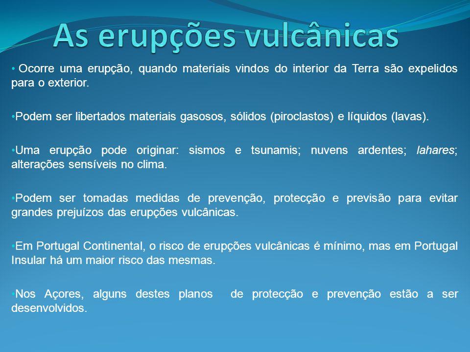 As erupções vulcânicas