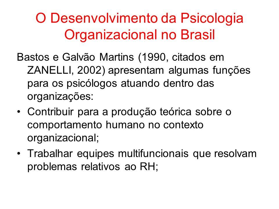 O Desenvolvimento da Psicologia Organizacional no Brasil