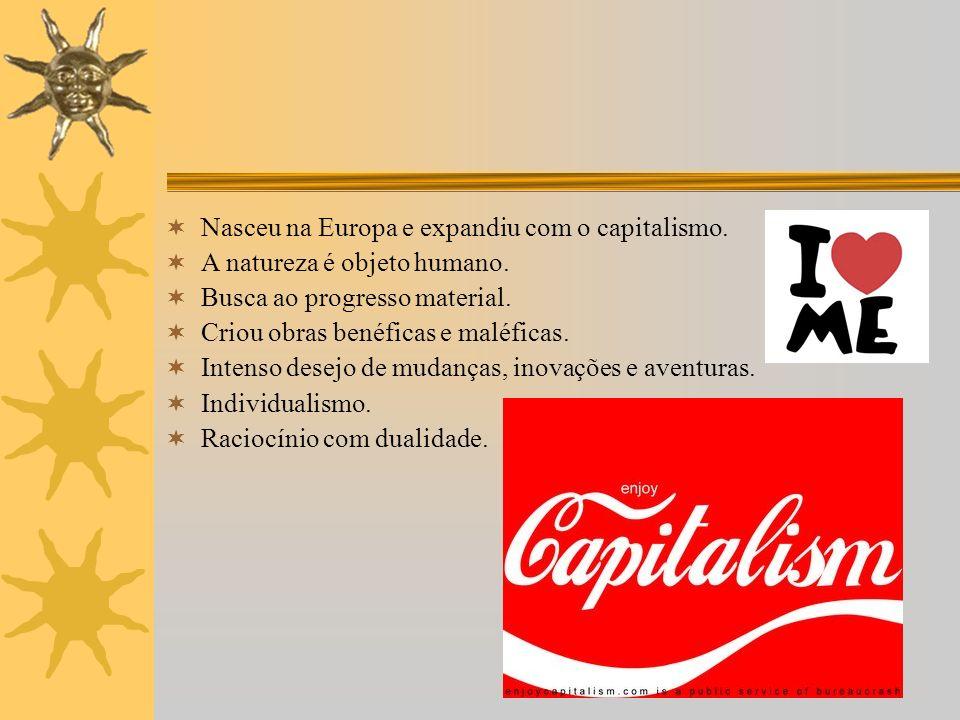 Nasceu na Europa e expandiu com o capitalismo.