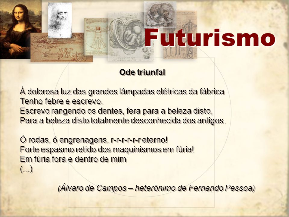 Futurismo Ode triunfal