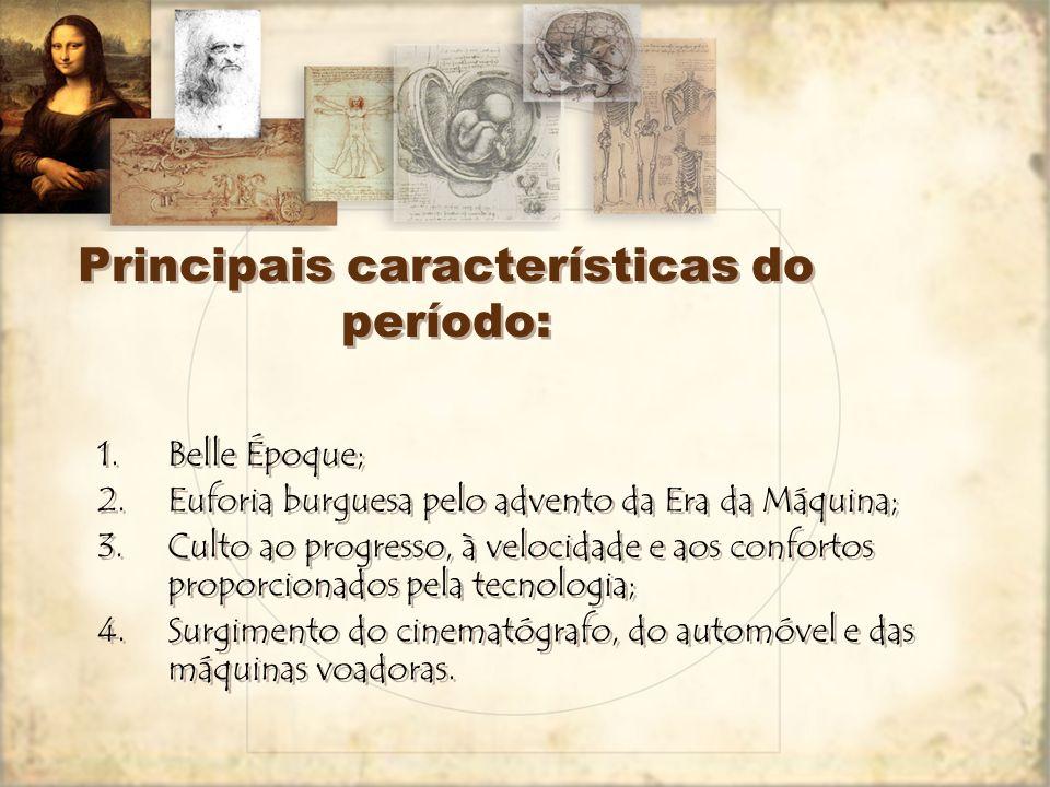 Principais características do período: