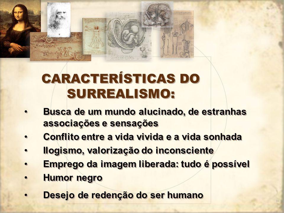 CARACTERÍSTICAS DO SURREALISMO: