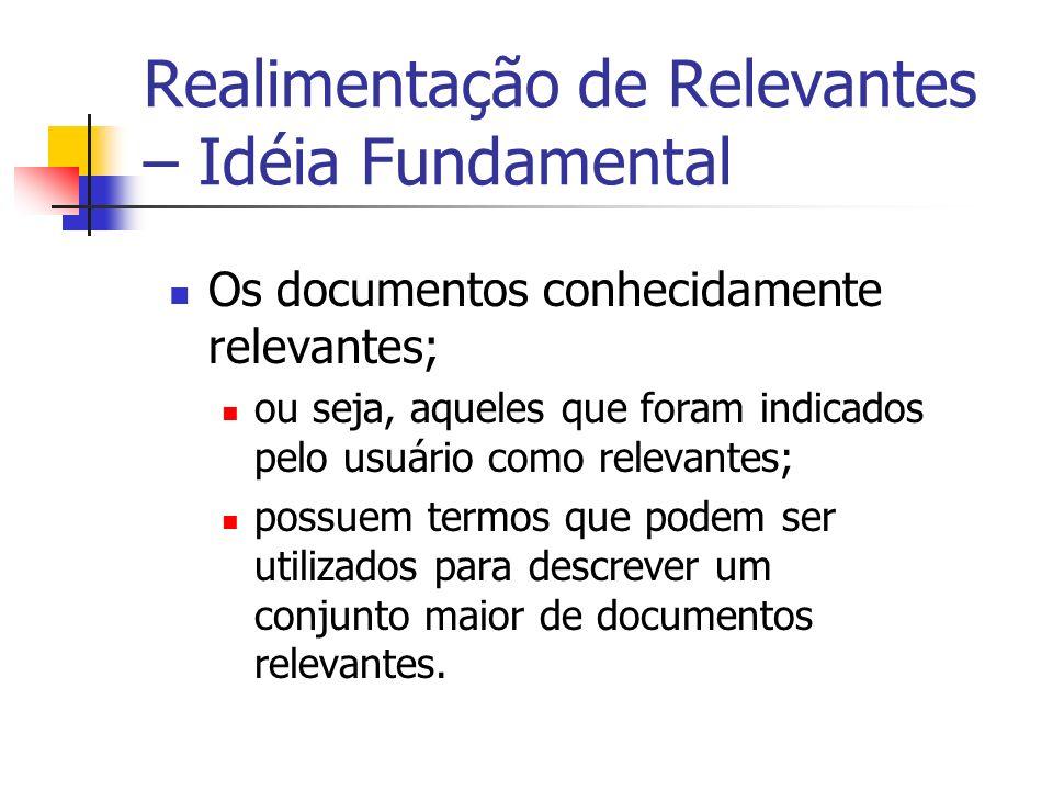 Realimentação de Relevantes – Idéia Fundamental