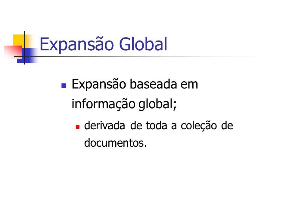 Expansão Global Expansão baseada em informação global;