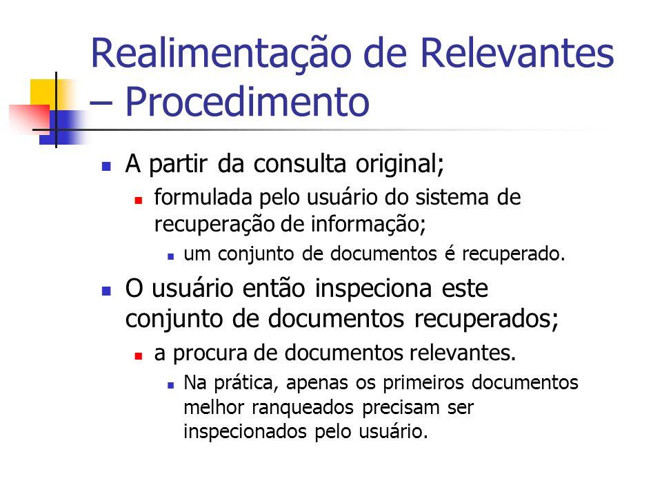 Realimentação de Relevantes – Procedimento