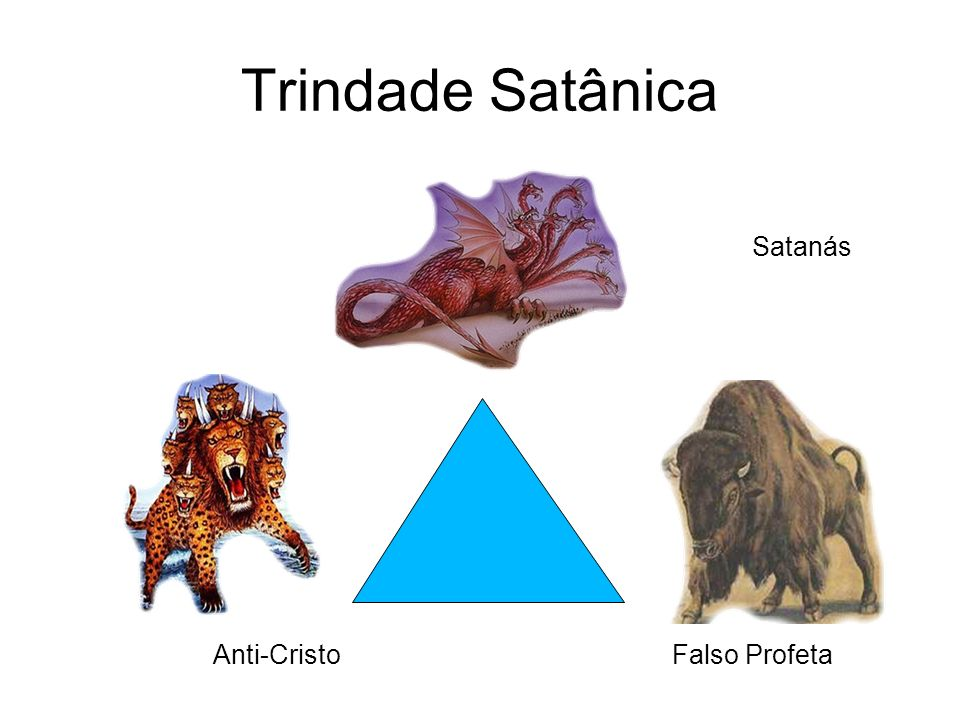 Trindade Satânica Satanás Anti-Cristo Falso Profeta
