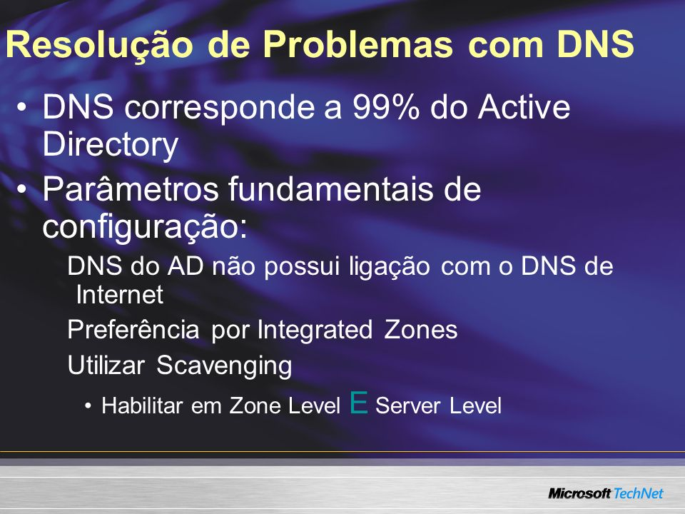 Resolução de Problemas com DNS