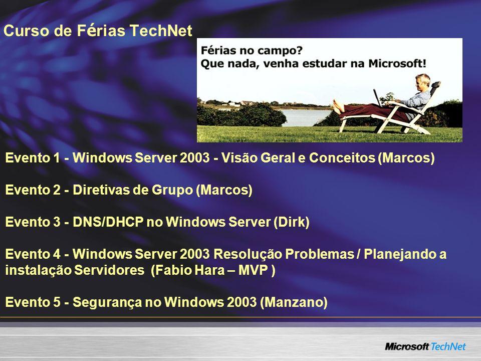 Curso de Férias TechNet