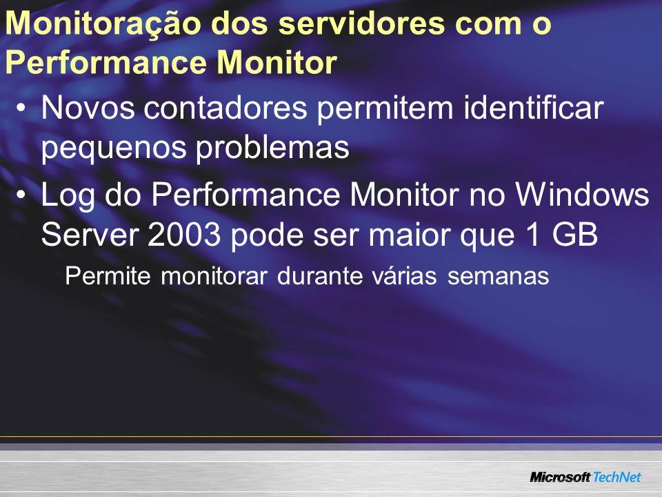 Monitoração dos servidores com o Performance Monitor
